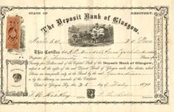 Deposit Bank of Glasgow - Kentucky 1871