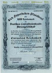 Deutsche Centralbodenkredit AG - Germany 1939