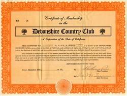 Devonshire Country Club - San Carlos, California 1925