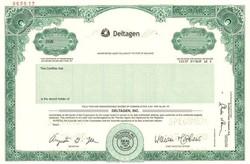 Deltagen, Inc.  (IPO Stock Certificate) - Delaware