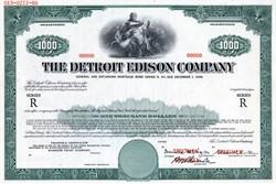 Detriot Edison Company $1000 Specimen Bond - 1966