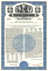 Detroit Edison Company $1000 Specimen Bond - Michigan