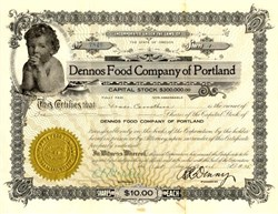 Dennos Food Company of Portland - Oregon 1915