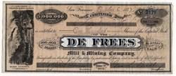 De Frees Mill & Mining Company - Tuscaroa Mining District, Elko County, Nevada - 1877