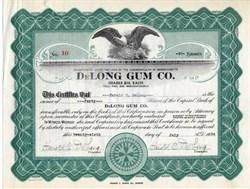 DeLong Gum Co. (Famous Baseball Card Set Maker) - Signed 3 times by Harold DeLong - Massachusetts 1934