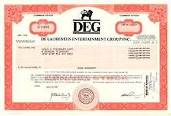 De Laurentiis Entertainment Group  Inc  - Delaware 1986