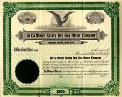 De La Matyr Rotary Dry Gas Meter Company 1912