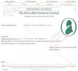 De La Rue Company p.l.c.