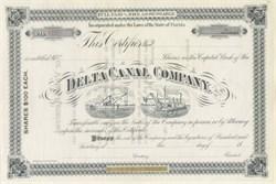 Delta Canal Company 1887 - Florida