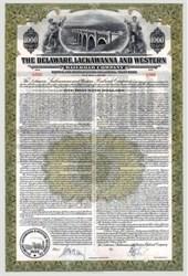 Delaware, Lackawanna and Western Railroad Company 1942 - 100 Year Bond