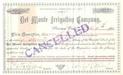 Del Monte Irrigation Company 1897-1901 - Pomona, California