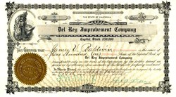 Del Rey Improvement Company signed by James V. Baldwin - Playa del Rey, Los Angeles,  California 1905