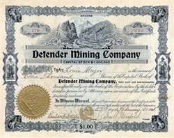 Defender Mining Company - Arizona 1905