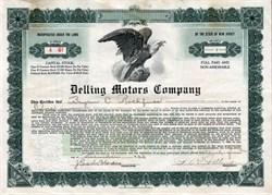 Delling Motors Company - West Collingwood,  New Jersey 1923