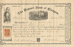 Deposit Bank of Glasgow 1870 - Kentucky