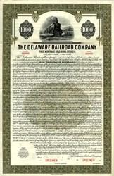 Delaware Railroad Company (Gold Bond)  - Delaware 1932