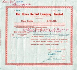 Decca Record Company, Limited - Companies Acts, 1908 to 1917 - 1933