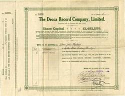 Decca Record Company, Limited. - England 1928