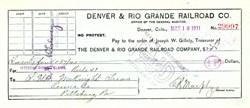 Denver & Rio Grande Railroad Co. - Denver, Colorado 1911