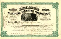 Decatur Silver Mining Company - Gilpin County, Russell Mining District , Colorado 1883