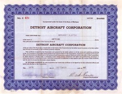 Detroit Aircraft Corporation 1946