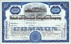 Detroit and Cleveland Navigation Company - City of Detroit Steamer Vignette 1932