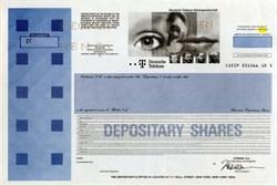 Deutsche Telekom - RARE Specimen Depository Share Certificate - 1996