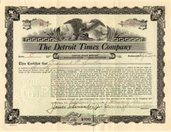 Detroit Times Company bought by William Randolph Hearst  - Detroit, Michigan 1921