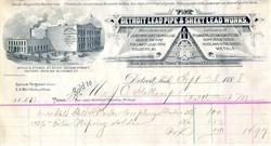 Detroit Lead Pipe & Sheet Lead Works Billhead 1888
