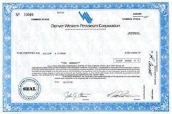 Denver Western Petroleum Corporation - Colorado 1981