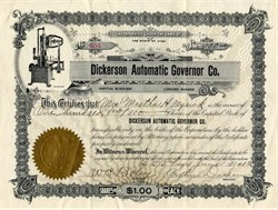 Dickerson Automatic Governor Company - Utah 1912
