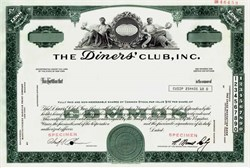 Diners' Club, Inc. (Early Credit Card Company) RARE Specimen - New York