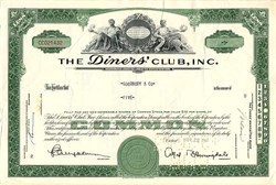 Diners' Club, Inc. (Early Credit Card Company) - New York 1963