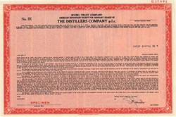 Distillers Company PLC  (Now Guinness PLC) - New York 1985