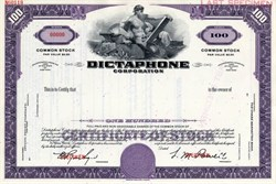 Dictaphone Corporation - Specimen