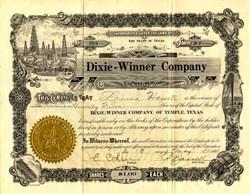Dixie - Winner Company (Oil Company) - Temple,Texas 1921