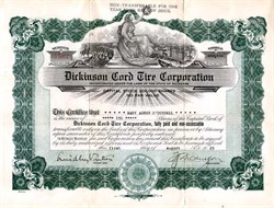 Dickinson Cord Tire Corporation - Delaware 1929
