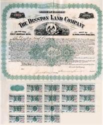 Disston Land Company signed by Hamilton Disston (Florida Land Company)  - 1894