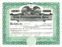 Dixie Stockgrowers Bank -Utah 1926