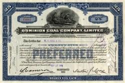 Dominion Coal Company, Limited - Nova Scotia, Canada 1937
