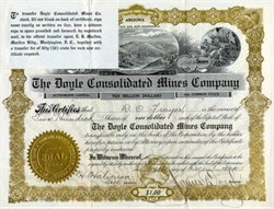 Doyle Consolidated Mines Company - Arizona 1910