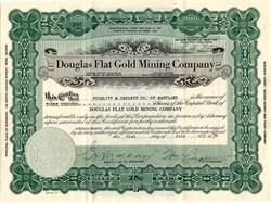 Douglas Flat Gold Mining Company - Nevada 1934