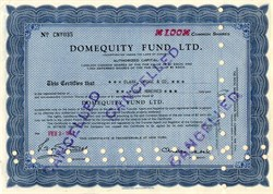 Domequity Fund Ltd. - Canada 1955