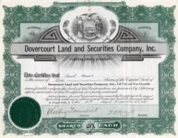 Dovercourt Land and Securities Company, Inc. - 1920