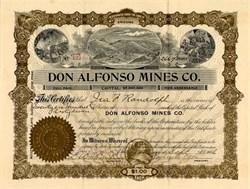 Don Alfonso Mines Co. - Arizona 1906