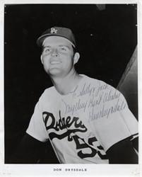 Don Drysdale L.A. Dodgers - Signed Photo