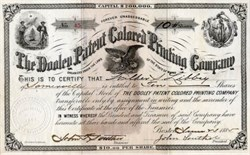 Dooley Patent Colored Printing Company - Maine 1885