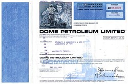 Dome Petroleum Limited - Canada 1981