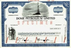Dome Petroleum Limited (Vignette of the Dome Winter Harbour Well, Artic Islands) - Calgary, Canada 1973