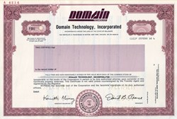 Domain Technology, Incorporated - Delaware